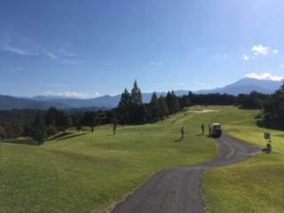 秋ゴルフ始まる